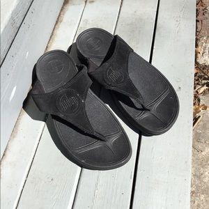 Fitflop Banda suede flip flops